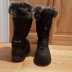 Kamik Girls Black Winter Boots